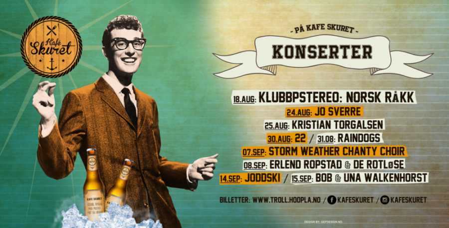 STORBANNER FOR KAFÈ SKURET